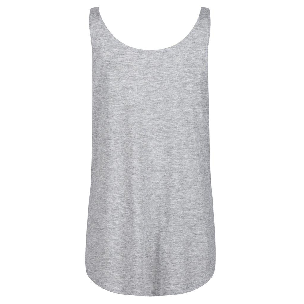 Tikiboo Athletic Heather Split Side Flowy Vest Top - Back Product View