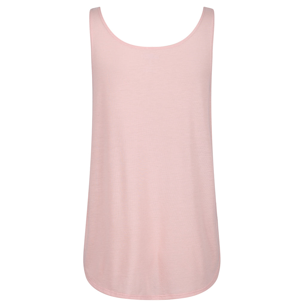 Tikiboo Peach Split Side Flowy Vest Top - Back Product View