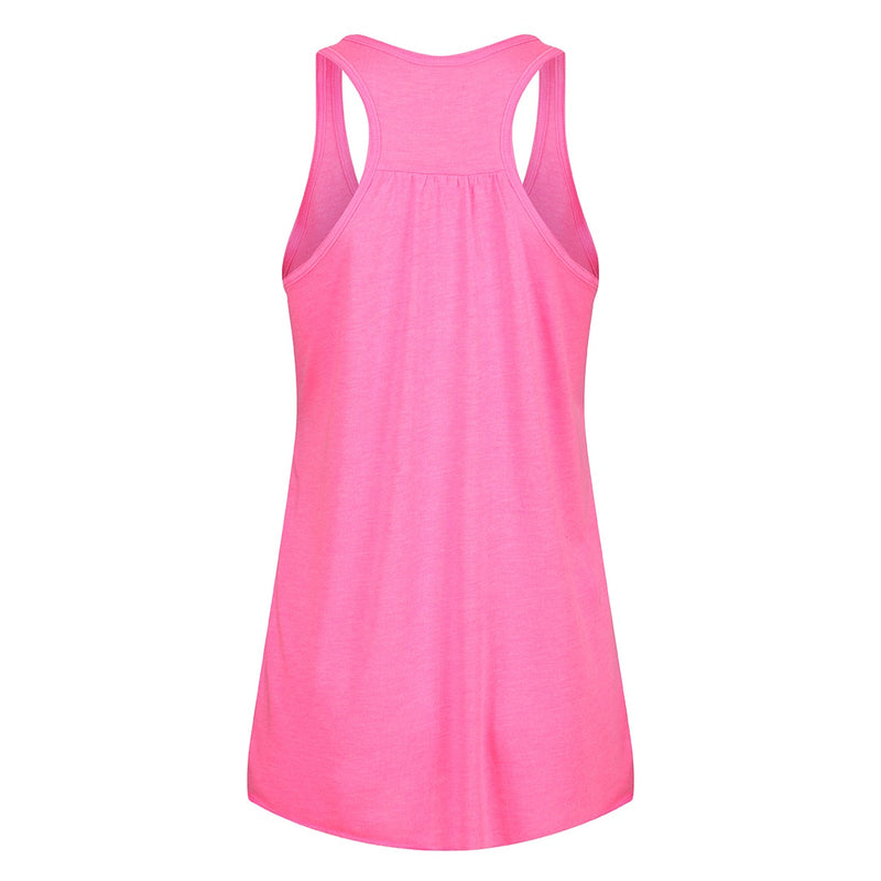 Tikiboo.Neon Pink 'Haters Gonna Hate' Flowy Vest Top - Back Product View