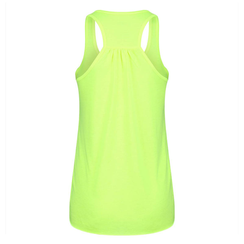 Tikiboo Neon Yellow 'Haters Gonna Hate' Flowy Vest Top - Back Product View