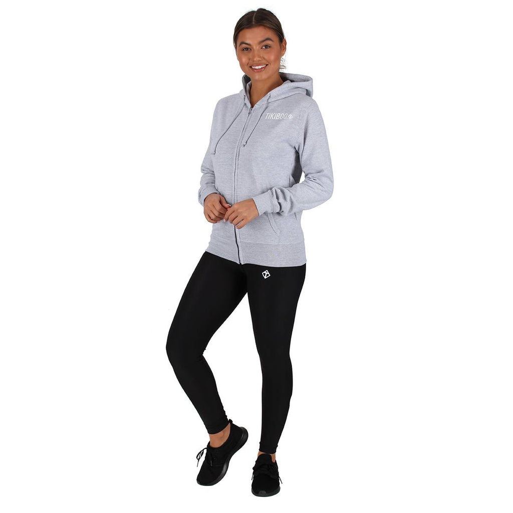 Tikiboo Grey Zoodie Hooded Top - Front Model View