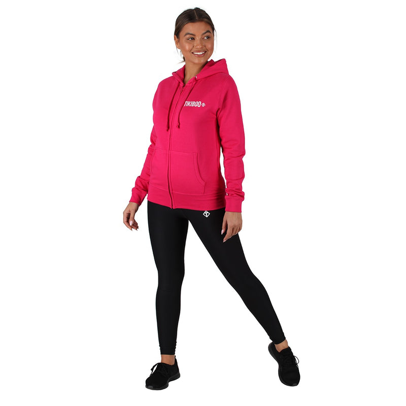 Tikiboo Hot Pink Zoodie Hooded Top - Front Model View