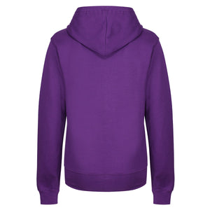Tikiboo Purple Zoodie Hooded Sweatshirt - Back Product View