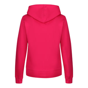Tikiboo Hot Pink Zip Up Hooded Sweatshirt - Back Product View