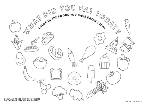 coloring pages for kids for dinner