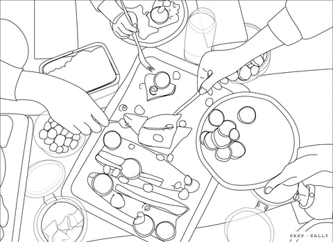 coloring pages for picky eaters