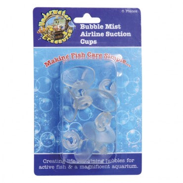 Underwater Treasures Bubble Mist Airline Suction Cups - 6 pk