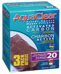 AquaClear 20 Activated Carbon Filter Insert 3 pack, 135g (4.8 oz)