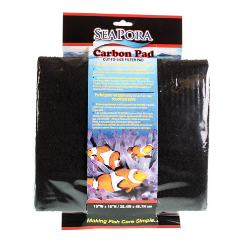 "SeaPora CARBON FILTER PAD 18""X10"""