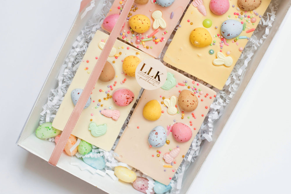 Easter | White Chocolate Bars Set of 4