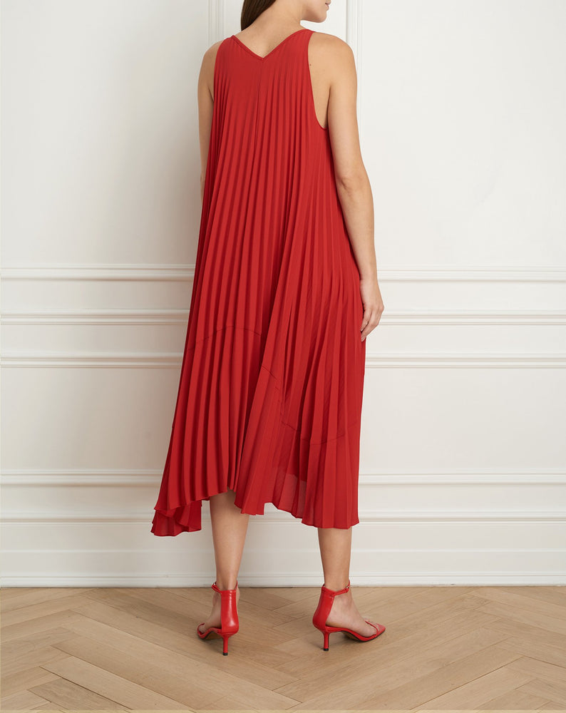 Load image into Gallery viewer, Pleated reversible maxi dress