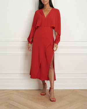 Load image into Gallery viewer, Flowy maxi dress with dolman sleeve