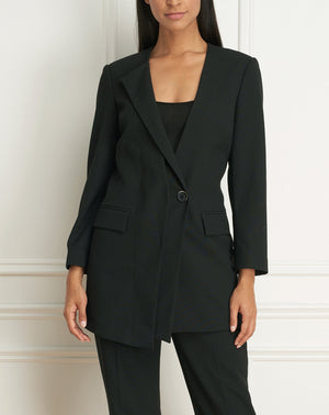 Load image into Gallery viewer, Long collarless blazer dress