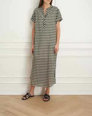 Load image into Gallery viewer, Shirt dress with rolled sleeve
