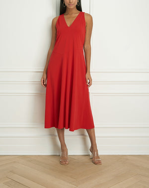 Load image into Gallery viewer, Sleeveless red dress