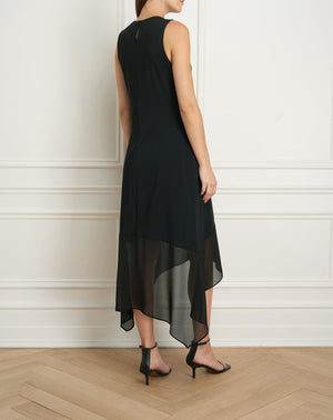 Load image into Gallery viewer, Sleeveless dress with chiffon combo