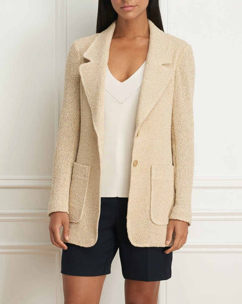 Load image into Gallery viewer, Boyfriend jacket with patch pockets