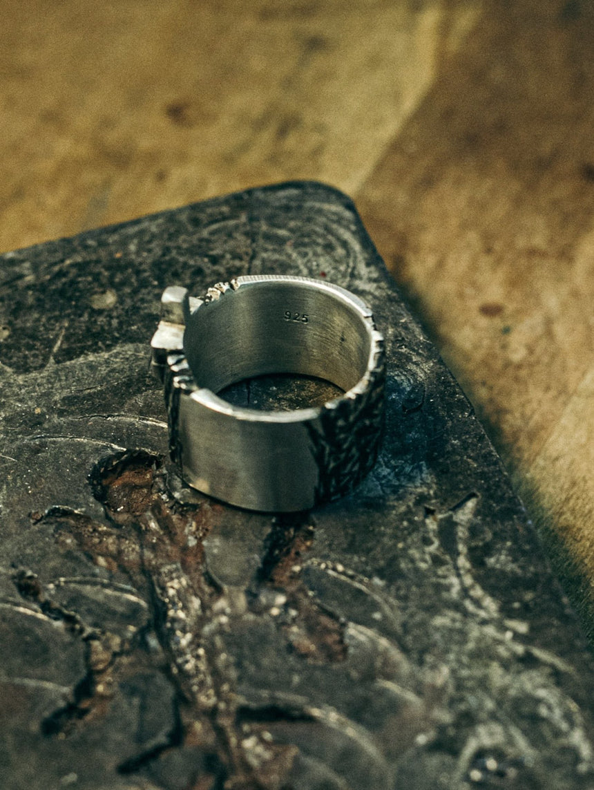 "HEX ""Forged"" Ring (925 Silver)"