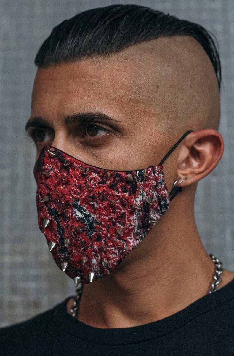 """RED SPIKES"" Mask"