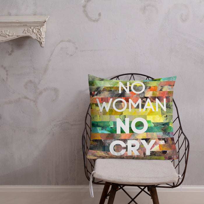 No Woman No Cry Premium Pillow - gartsy.com