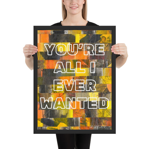 You're It Framed Inspirational Poster - gartsy.com