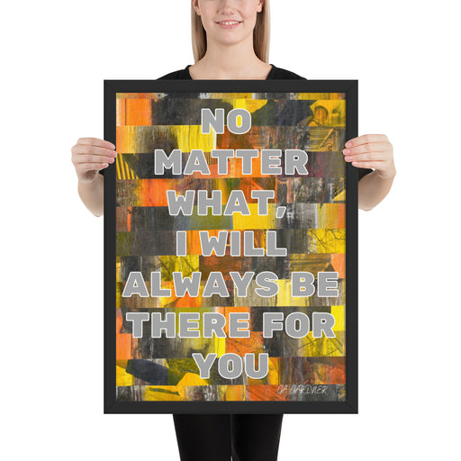 No Matter What Framed Inspirational Poster - gartsy.com