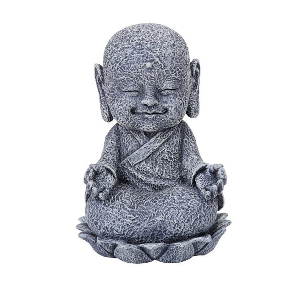 SEATED JIZO WITH HANDS IN OM