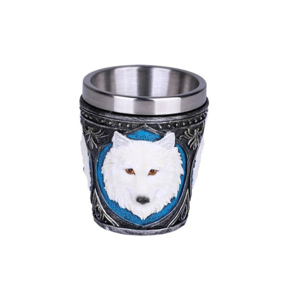 WHITE WOLF SHOT GLASS