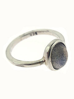 LABRADORITE RING - FACETED