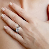 TRIPLE GODDESS MOONSTONE RING