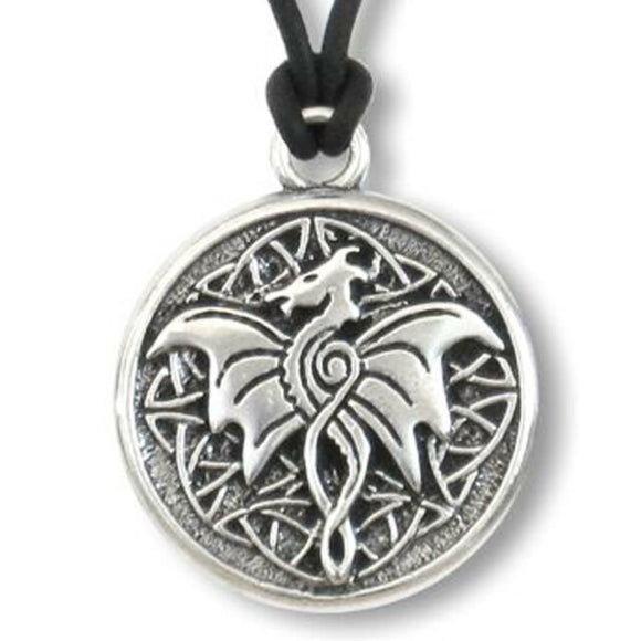 Celtic Wisdom Dragon Pendant