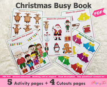 Load image into Gallery viewer, Christmas Busy Book