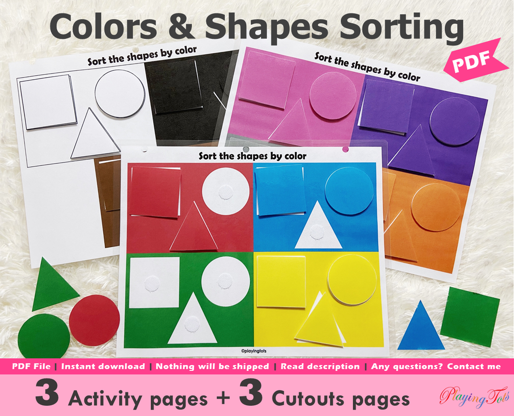 Colors and Shapes Sorting