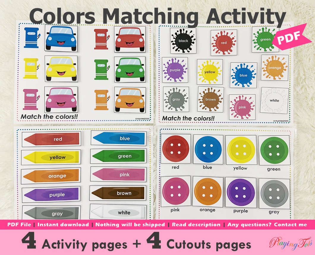 Colors Matching Activity