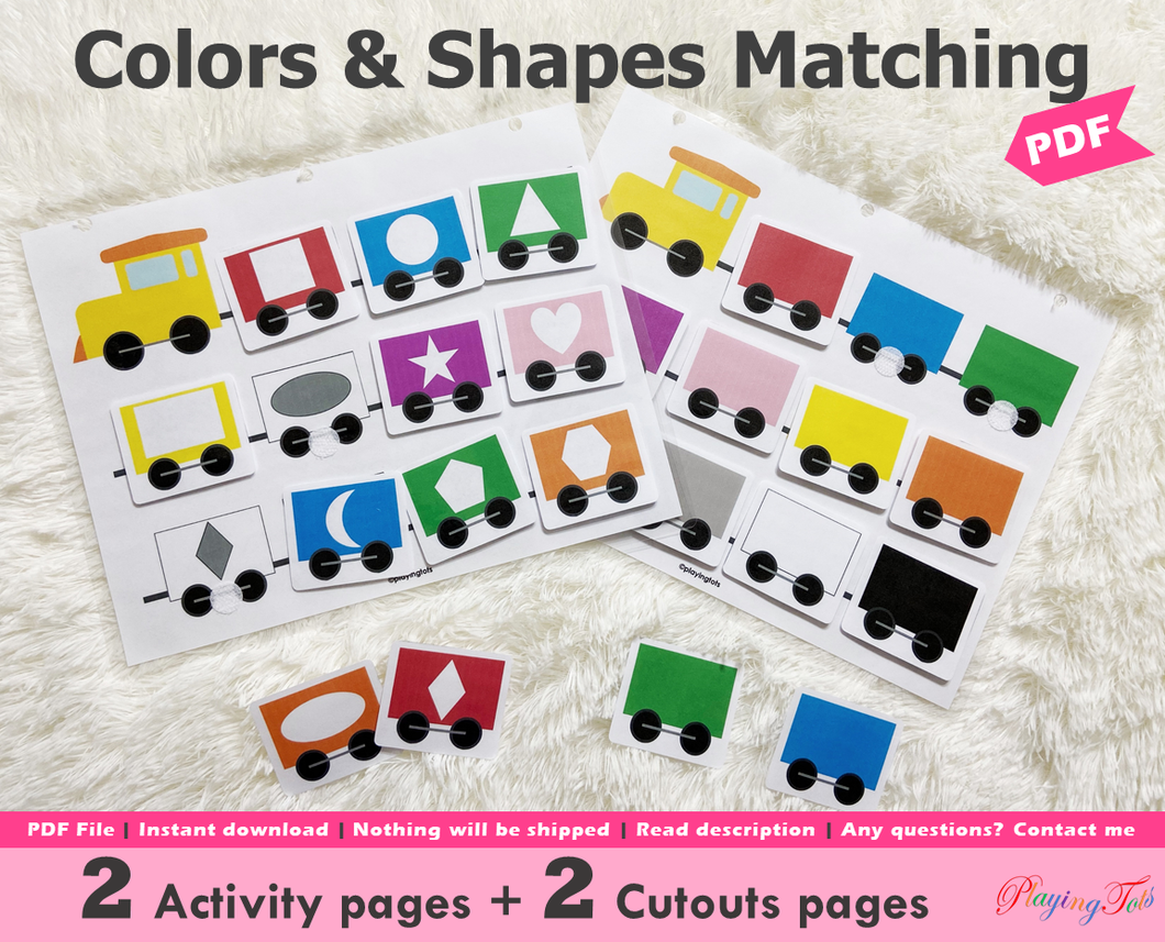 Colors and Shapes Matching Activity