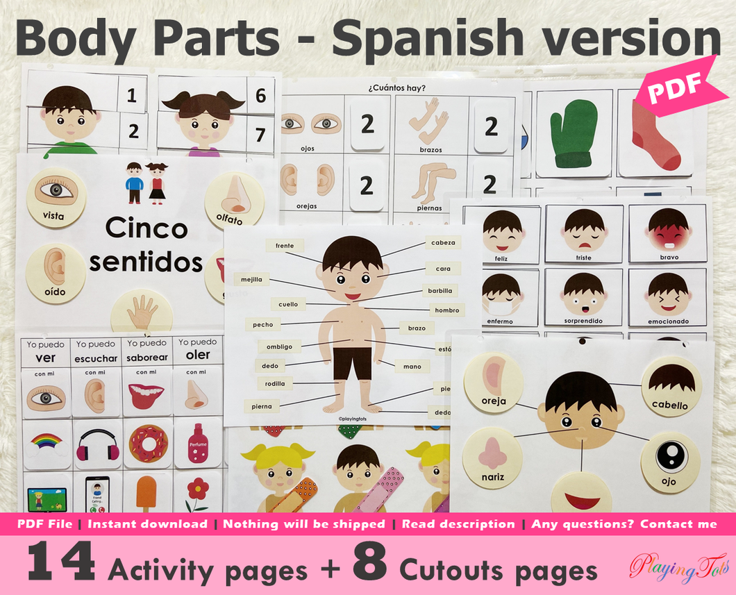 Body Parts | Activity Pack | Spanish