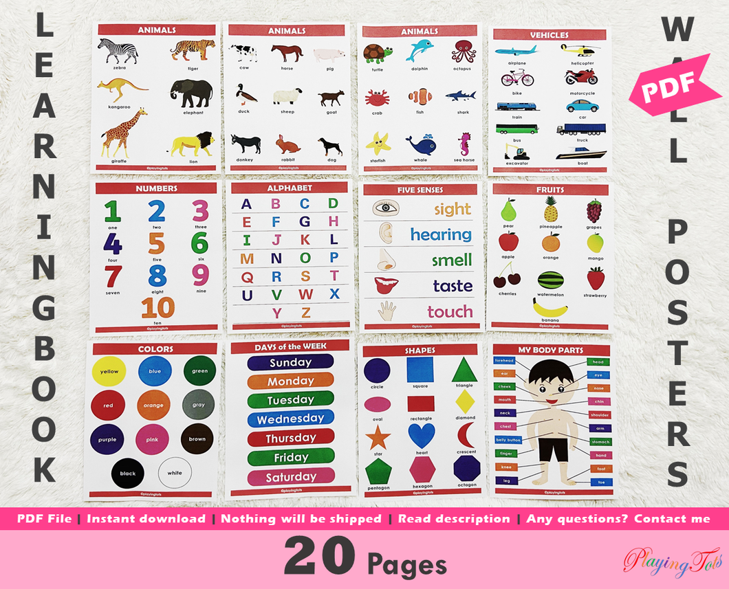 Learning Book | Educational Wall Posters