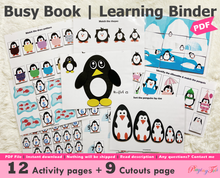 Load image into Gallery viewer, Penguin Busy Book