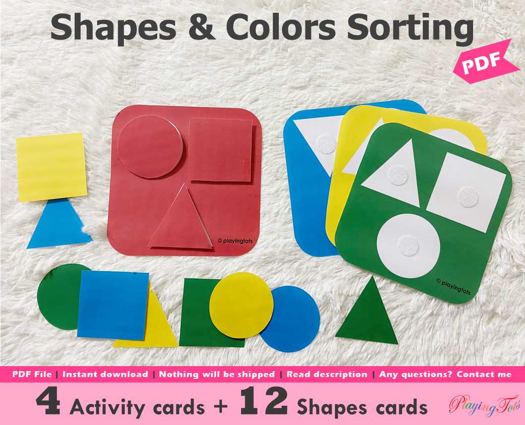 Shapes and Color Sorting Activity