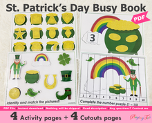 Load image into Gallery viewer, St Patricks Day Busy Book
