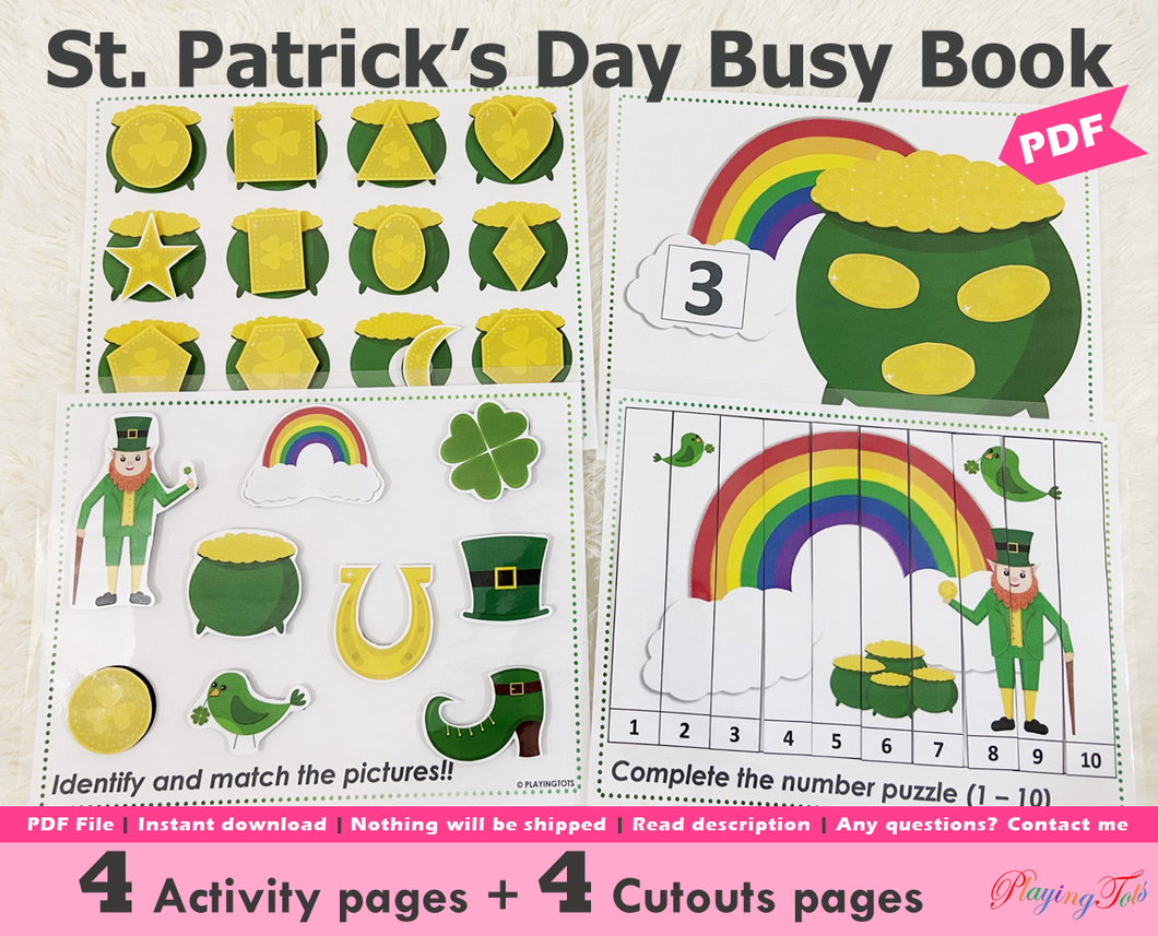 St Patricks Day Busy Book