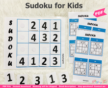 Load image into Gallery viewer, Sudoku or Suduko Puzzle | DIY Sudoku Activity Mat