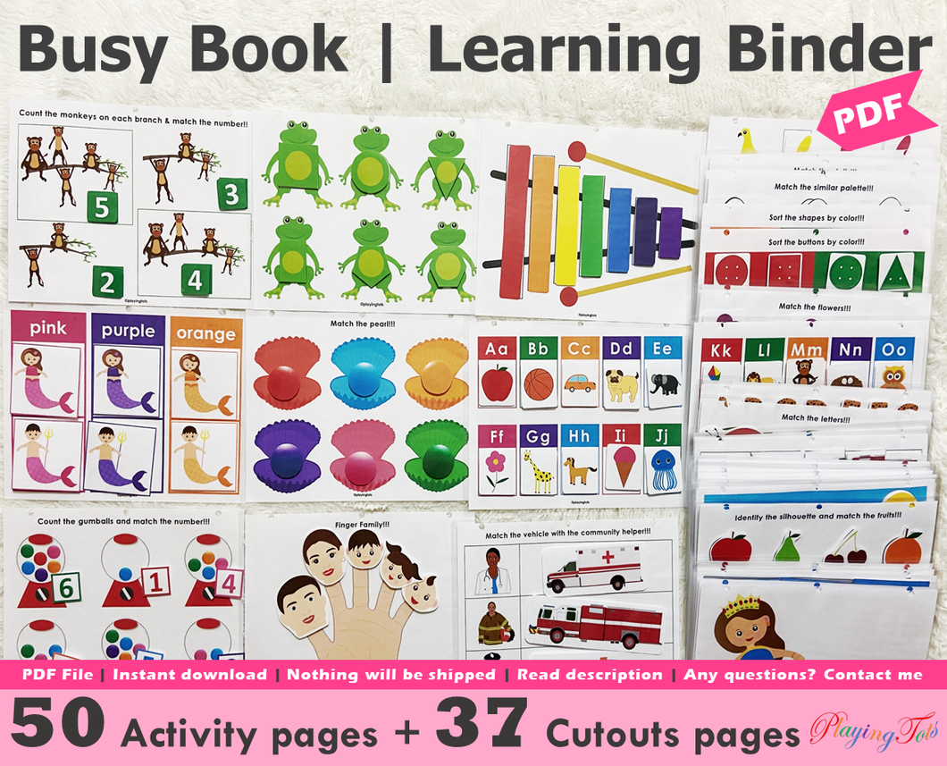 Busy Book | Learning Binder