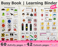 Load image into Gallery viewer, Busy Book | Learning Binder