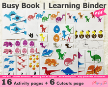 Load image into Gallery viewer, Dinosaur Busy Book