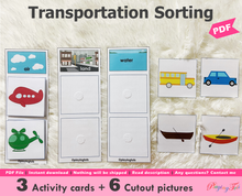 Load image into Gallery viewer, Land Air Water | Transportation Sorting