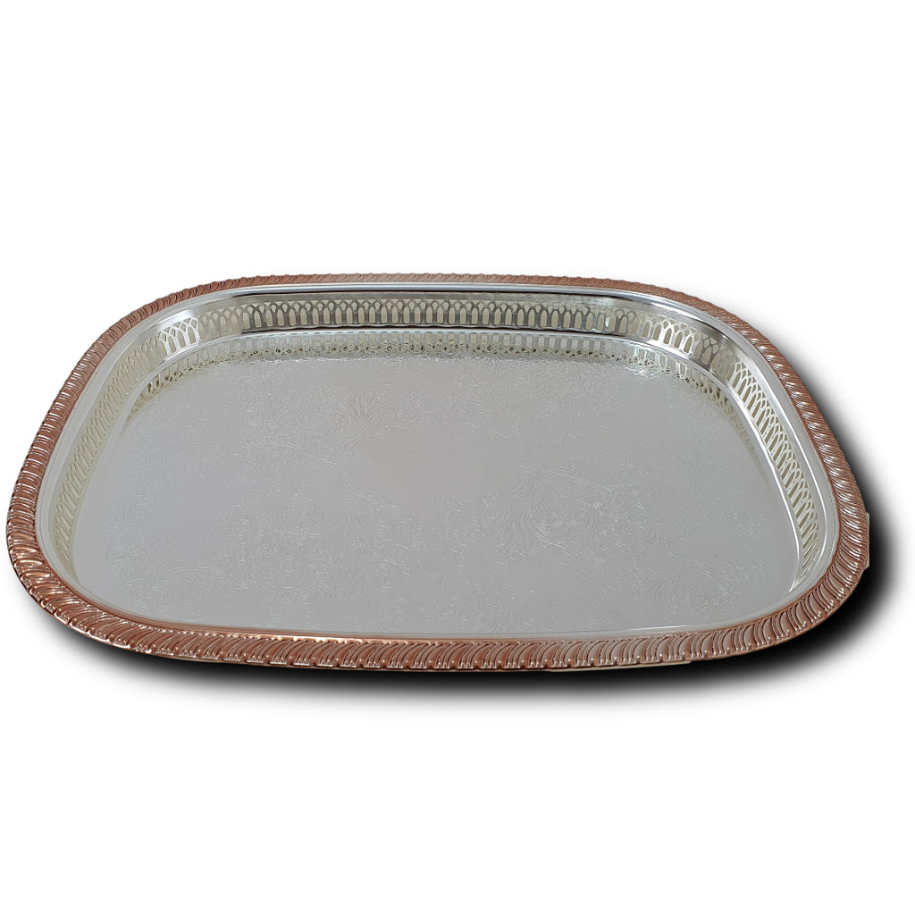 Copper Line Tray | Kingsville Serving Tray | Silverware