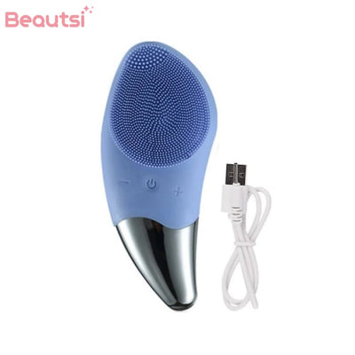Ultrasonic Facial Cleansing Brush Blue