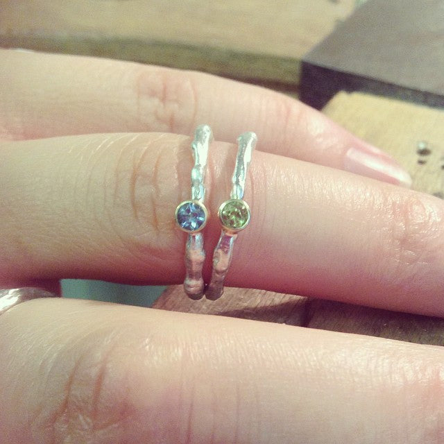 Twig Stacking Ring Pair