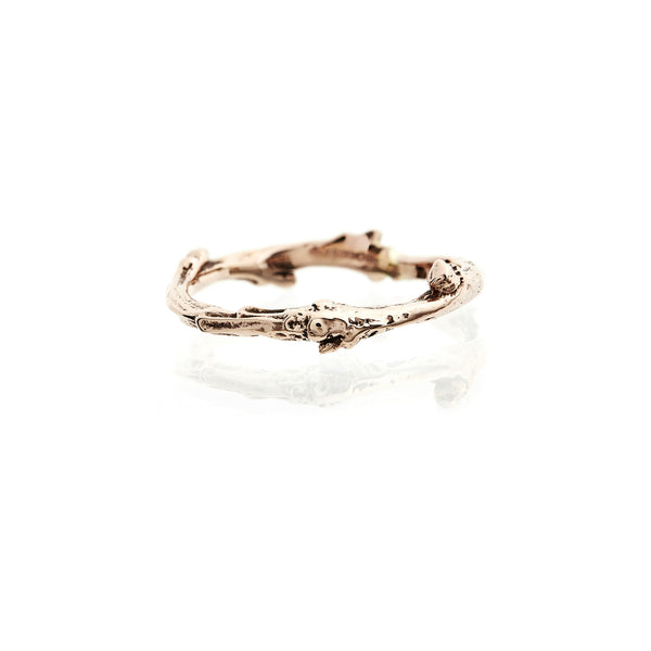 9ct Rose Gold Twig Wedding Ring
